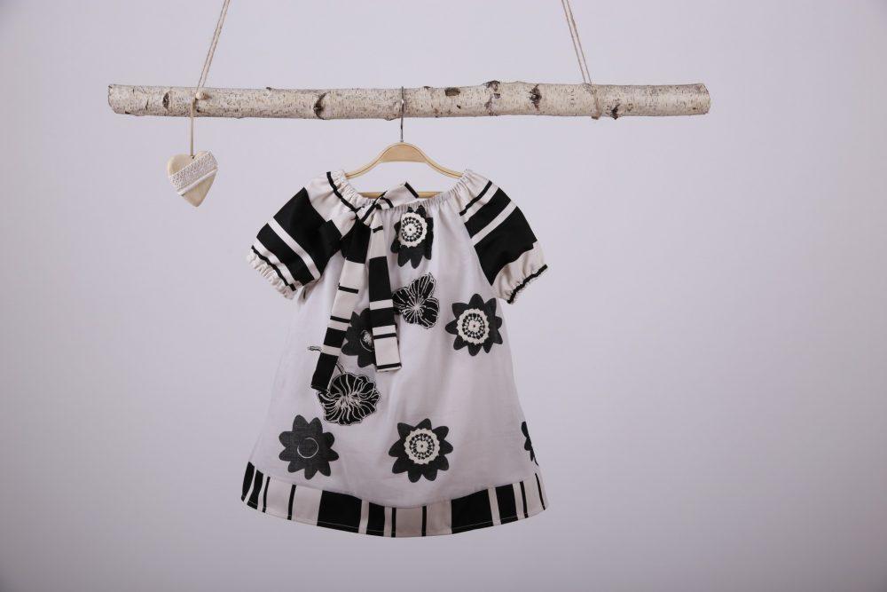 rochita eleganta fetite alb & negru