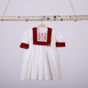 Din Cufarul Bunicii rochita borangic de bumbac