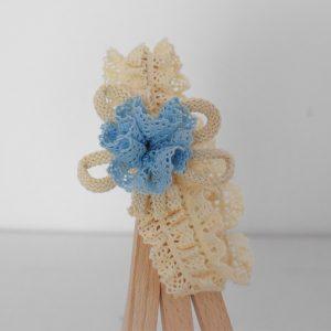 Bentița- pompon pentru fetite Bleu cu Noroc