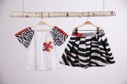 set fusta cu bluza zebra