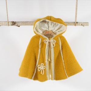 Pelerina din stofă pentru fetițe- Soarele Gol