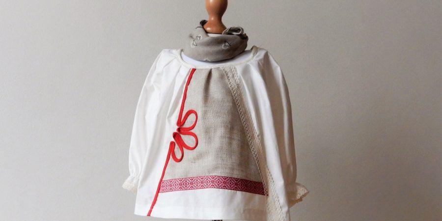 bluza traditionala trifoiul rosu