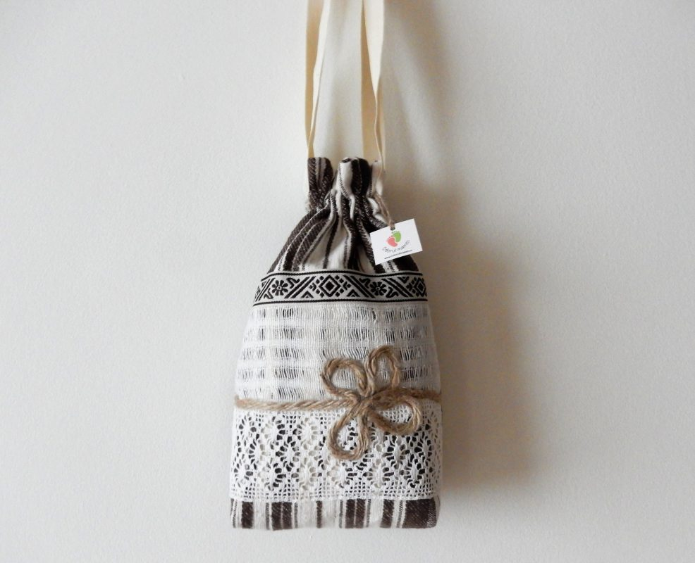 saculet traditional Trifoiul de iuta norocos