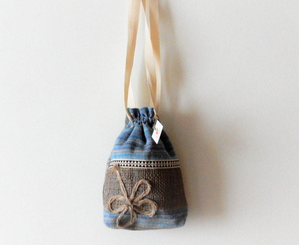 saculet traditional Alt trifoi de iuta norocos