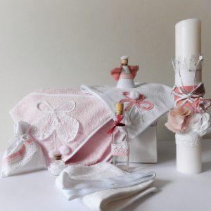 trusou botez roz cu alb