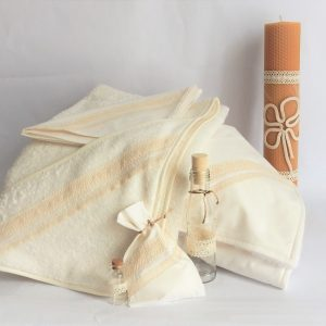 set botez dantela ivoire