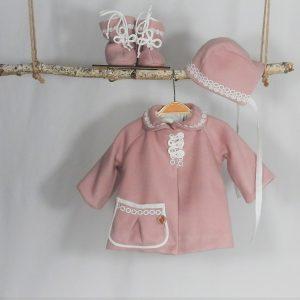 mantou unicat botez fetite roz pudra
