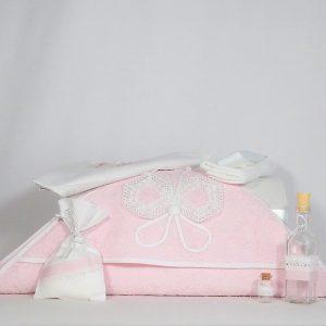 trusou botez unicat fluturasul roz