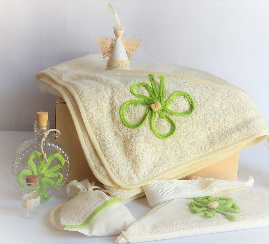 trusou botez trifoi verde cu noroc