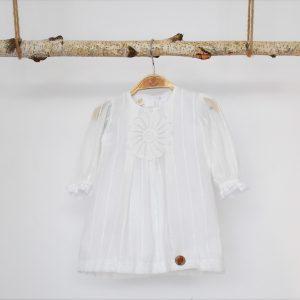 Rochița albă unicat de botez Imaculata