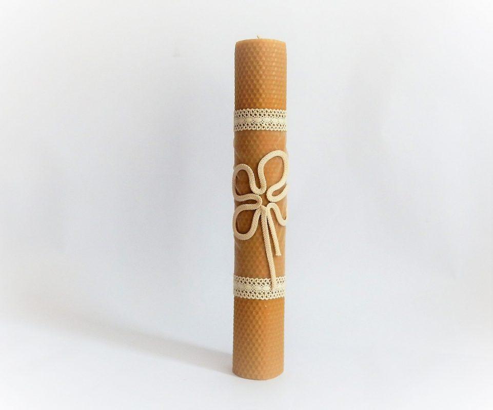 lumanare ceara de albine ivoire