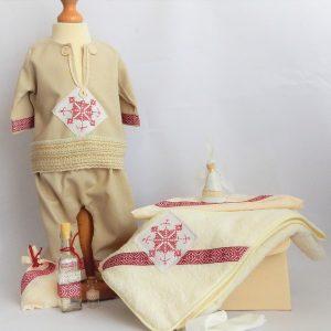 compleu traditional baieti Cusatura Romaneasca alba