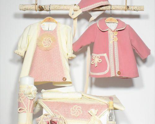 Colecția pentru botez fetițe Spumă de Frăguțe