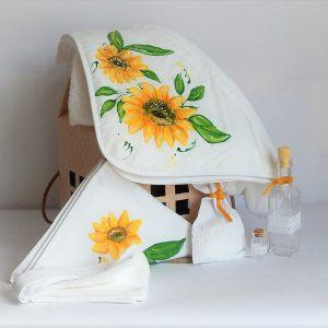 trusou botez pictat Floarea Soarelui