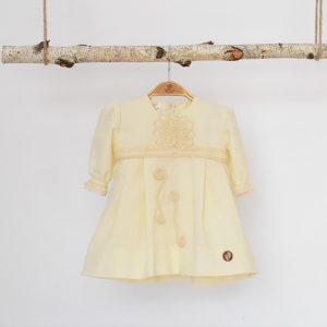 Rochița ivoire din in pentru botez- Din Croșeta Bunei