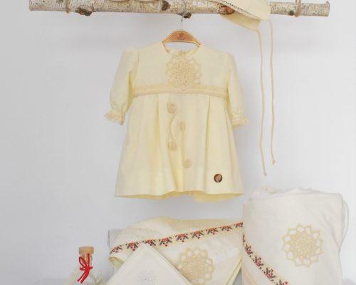 Colecția ivoire pentru botez Din Croșeta Bunei