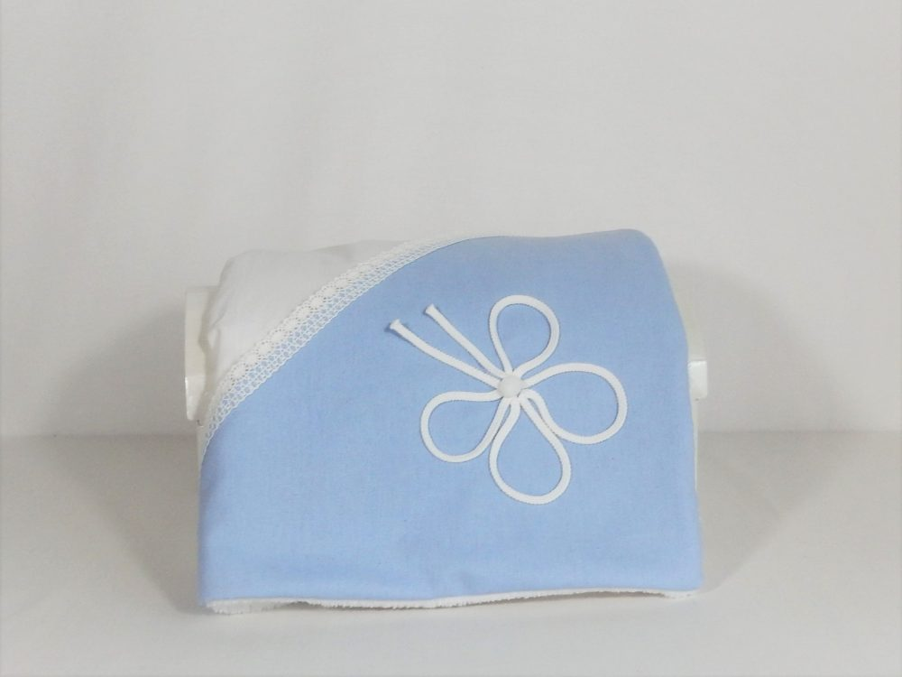 paturica unicat botez noroc alb pe bleu