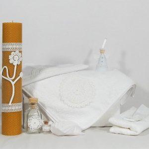 lumanare botez unicat ceara naturala spuma laptelui