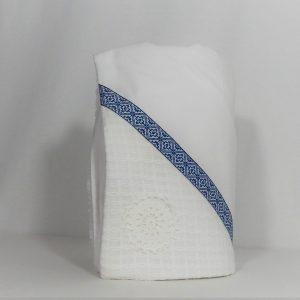 paturica botez unicat cusat albastra1