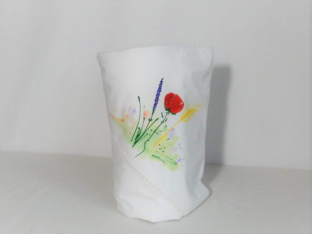 paturica botez unicat pictata flori de camp