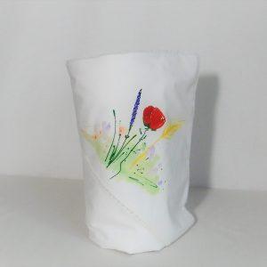 Păturica pictata Flori de Câmp pentru botez