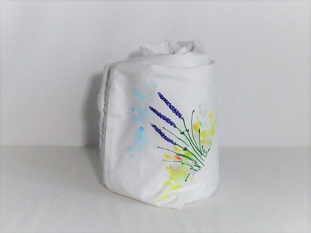 paturica botez unicat pictata lavanda