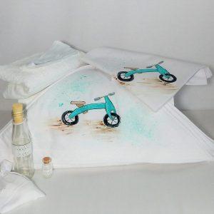 trusou botez unicat pictat bicicleta