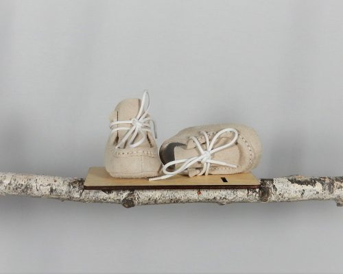 mocasini botez unicat piele ivoire