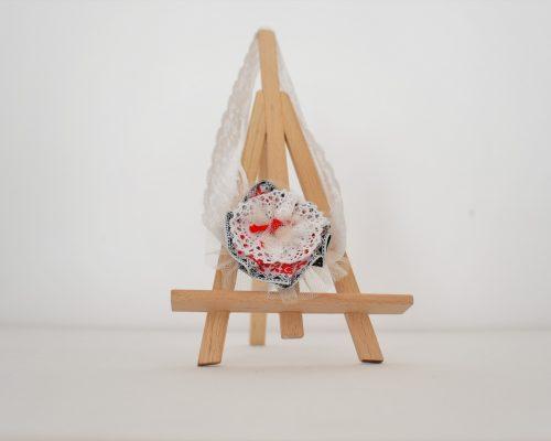 Bentita handmade pentru botez Trandafir de la Moldova