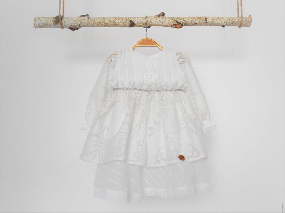 Rochița albă pentru botez fetițe Inocența