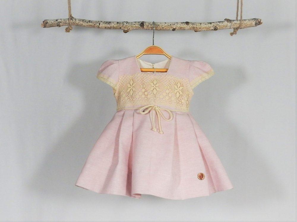 rochita unicat botez roz pudrat