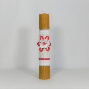 Lumânare tradițională din ceară de albine- Hai la Horă!