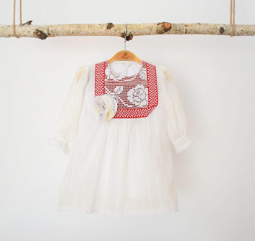 rochita unicat botez descantec cu garofita