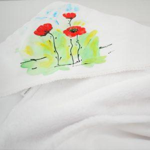 Păturica pictată pentru botez