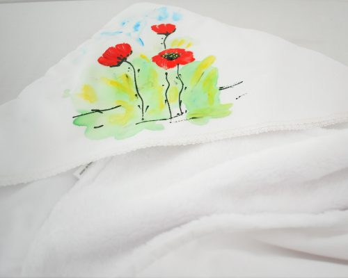 paturica unicat botez pictata maci1