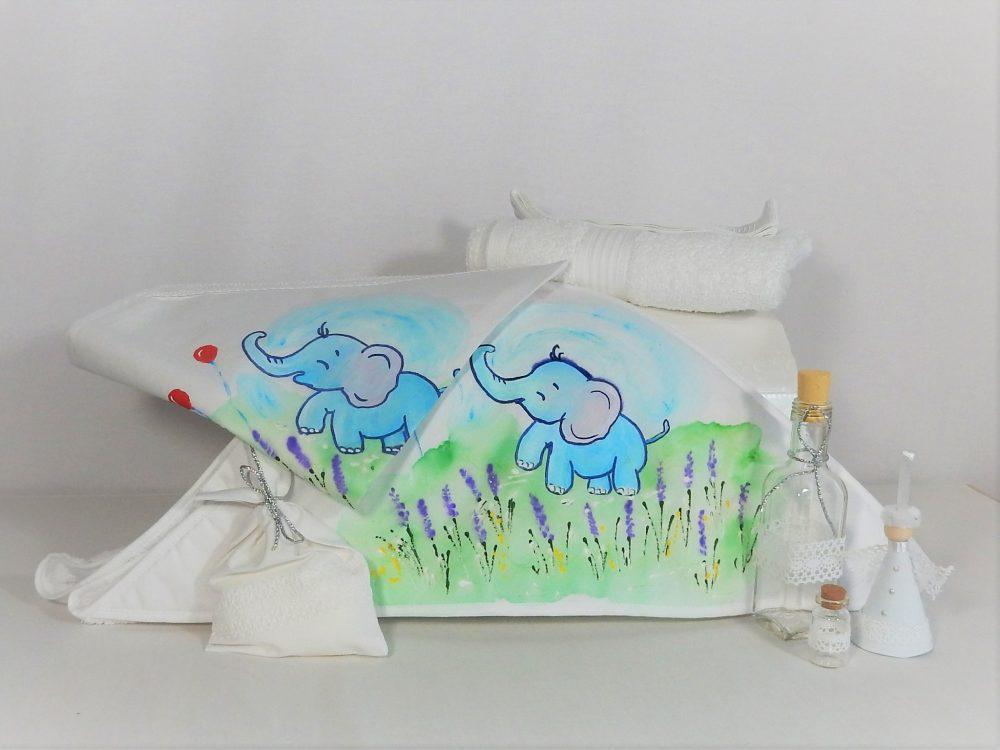 trusou botez unicat pictat elefant