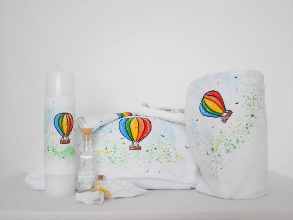 Colecția completă pictată pentru botez- Plutind în Balon