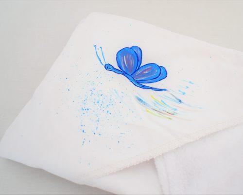 paturica pictata unicat botez fluturas albastru1