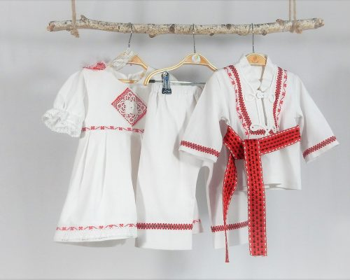 Colecția botez unic Trifoi Roșu cu Noroc