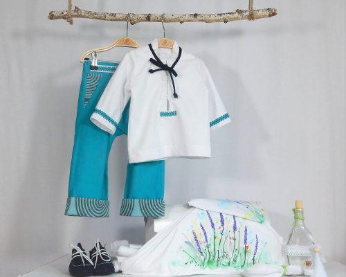 Colecția Turcoaze pentru botez băieți