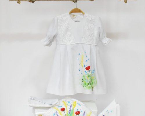 Colecția pictată pentru botez Flori de Câmp