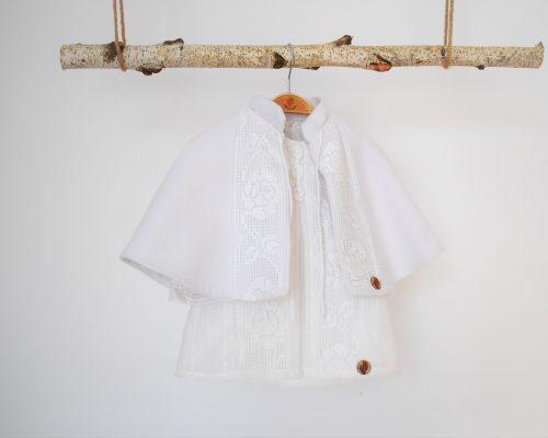 Colecția unicat pentru botez Trandafiri Albi Dantelați