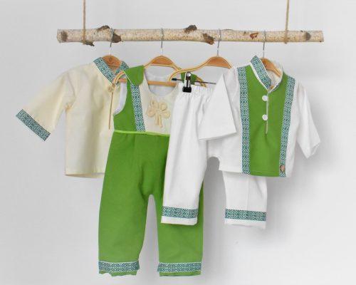 Colecția pentru botez Folclor Verde