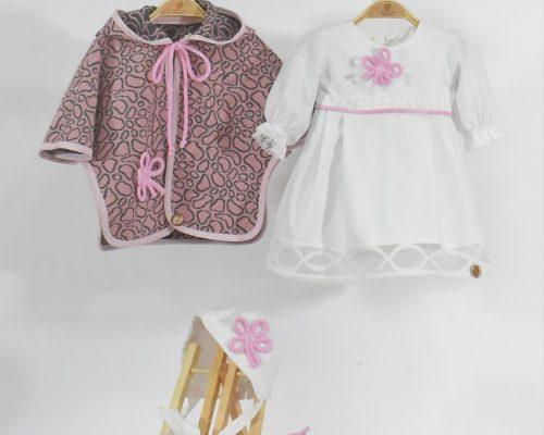 Colecția botez fetițe- Trifoi Roz cu Noroc