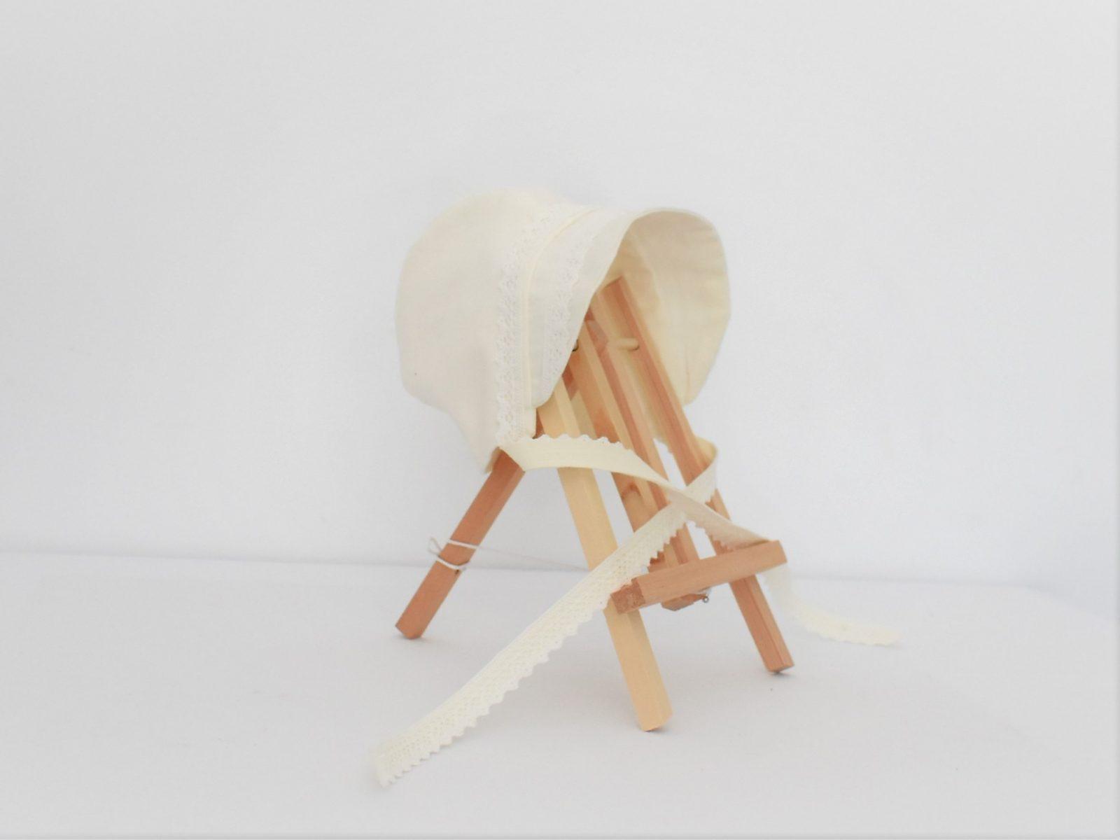 Bonetă din in ivoire pentru fetițe și băieți- Vanilie